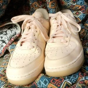Pink Air Force Ones Size 9